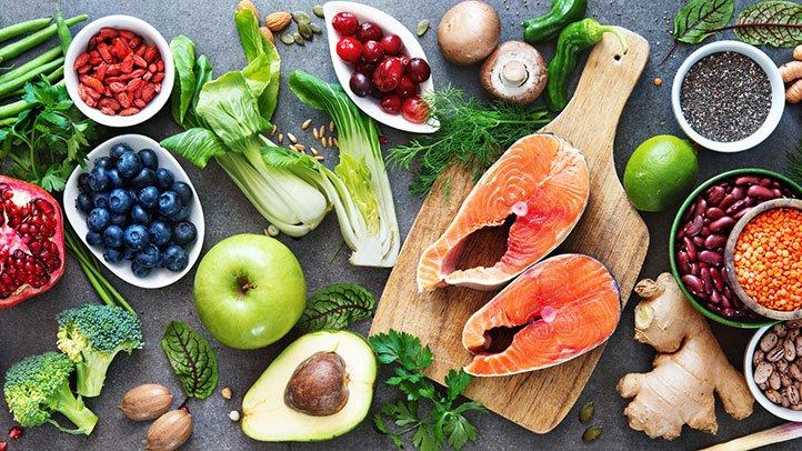 ingrédients régime méditerranéen ou crétois