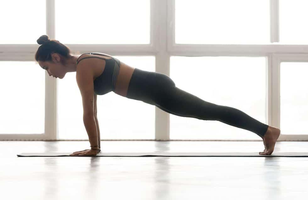 Gainage planche bras tendus